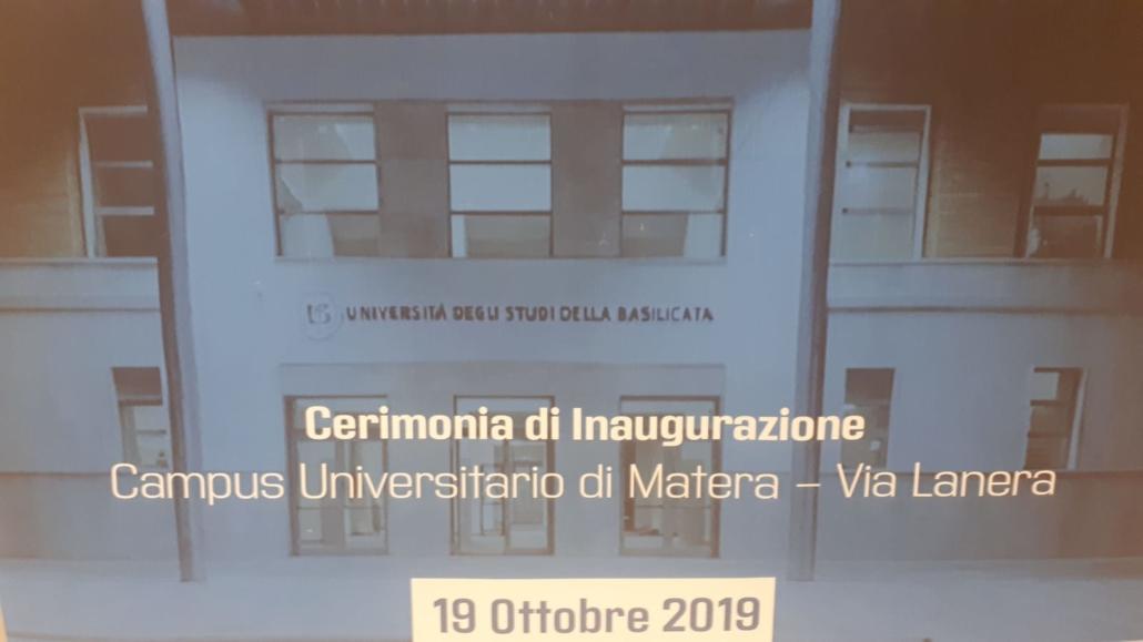 Inaugurazione ufficiale del Campus universitario di Matera