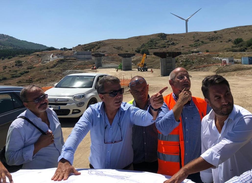 Sopralluogo cantiere SS 117 del viceministro delle Infrastrutture e Trasporti, Giancarlo Cancelleri.