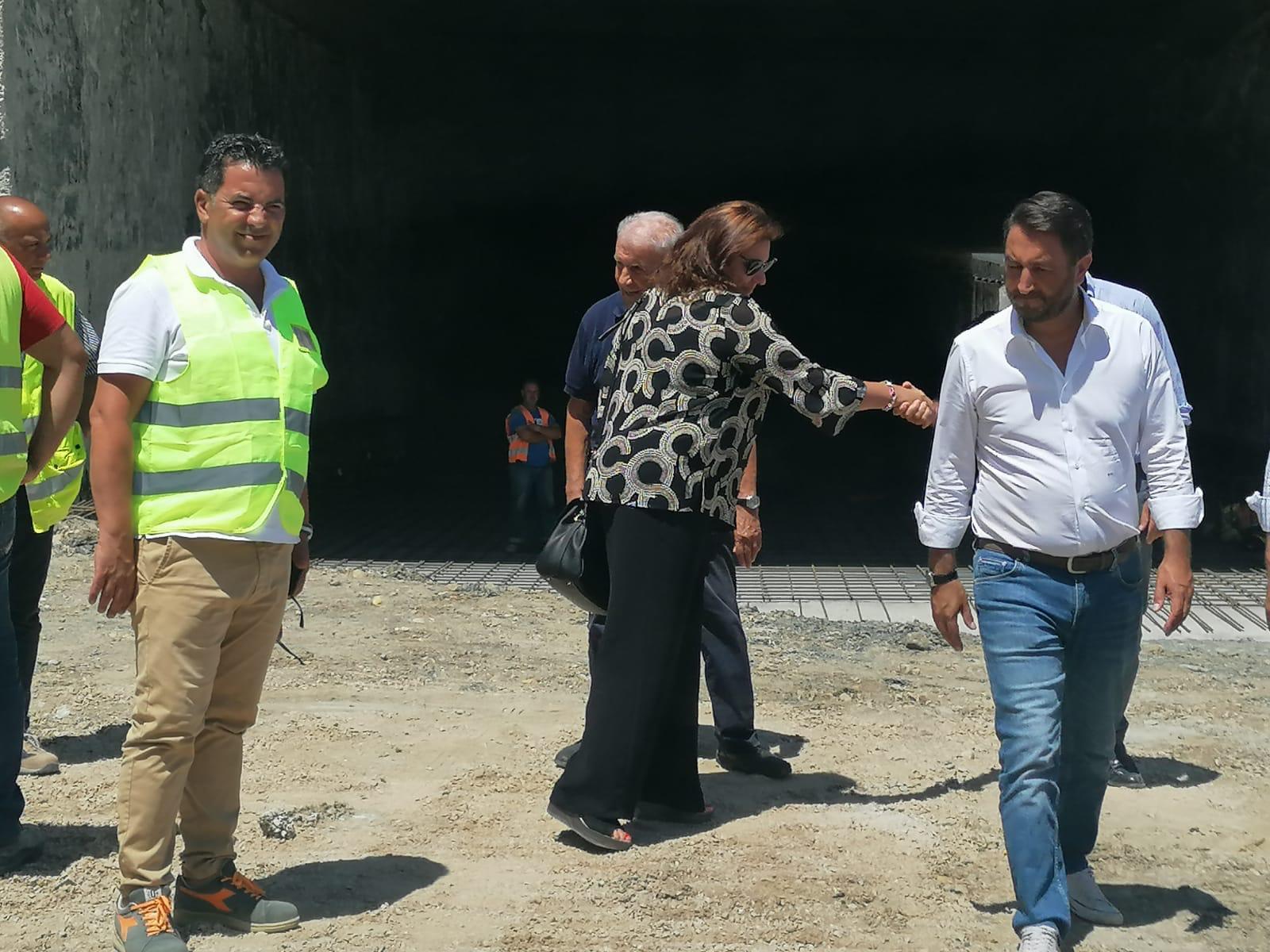 Sopralluogo del viceministro delle Infrastrutture Cancelleri al cantiere SS 117
