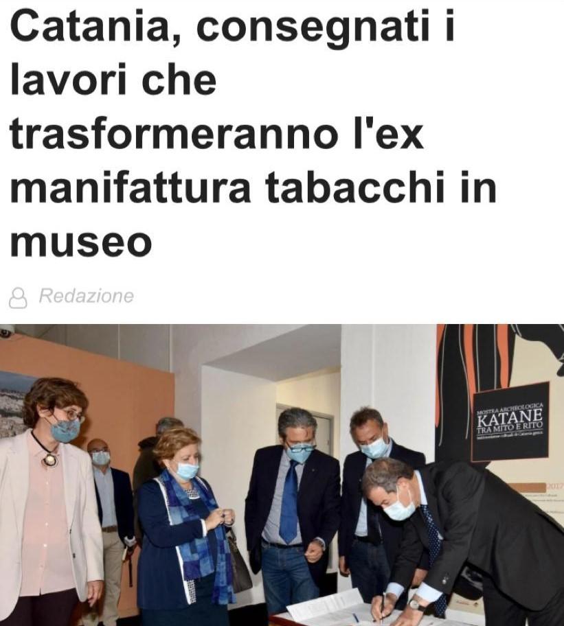 Ex Manifattura Tabacchi Catania: Consegna lavori recupero