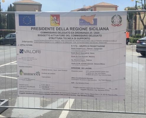 Ospedale Umberto I Siracusa consegna lavori