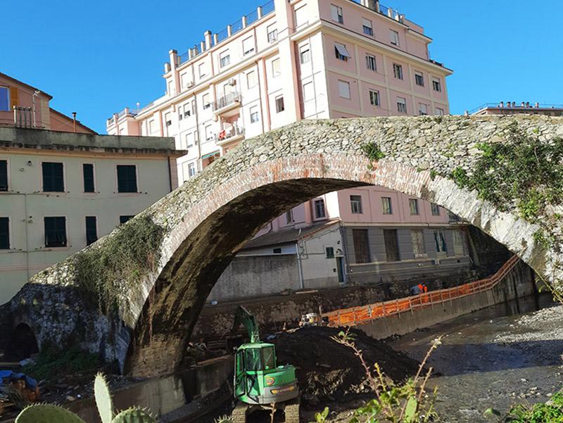 Adeguamento idraulico tratto terminale torrente Nervi Valori Scarl