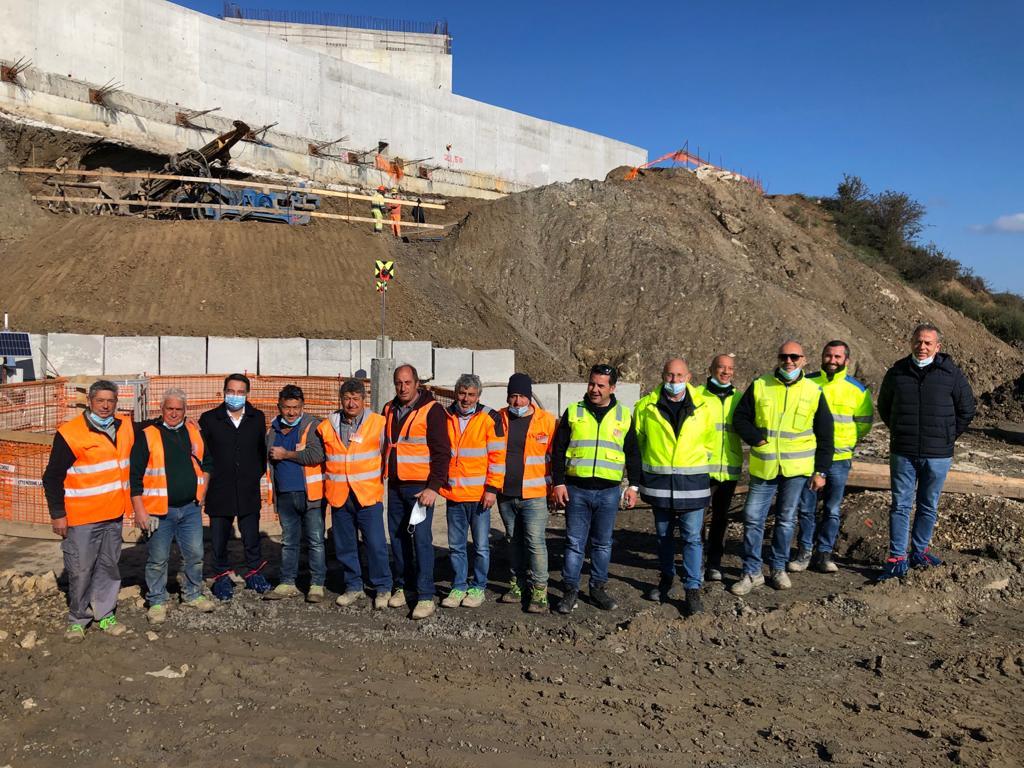 Cantiere SS 117 Mistretta (ME): Visita del Viceministro alle Infrastrutture